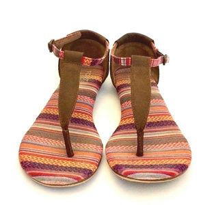 TOMS Womens 6.5 Playa Tribal Woven Leather
